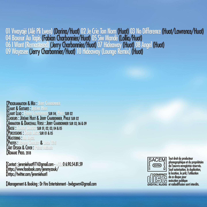 Jeremy - Album Carib Being - Visuel Verso