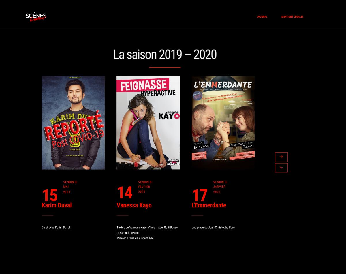 Scènes Émotions - Site Internet Version 2019 - Saison 2019-2020
